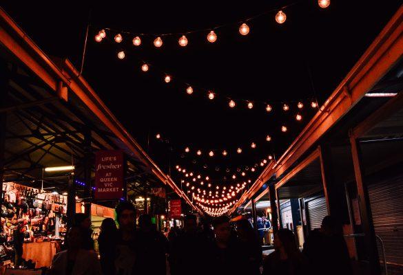 Queen Victoria Winter Night Market Stalls